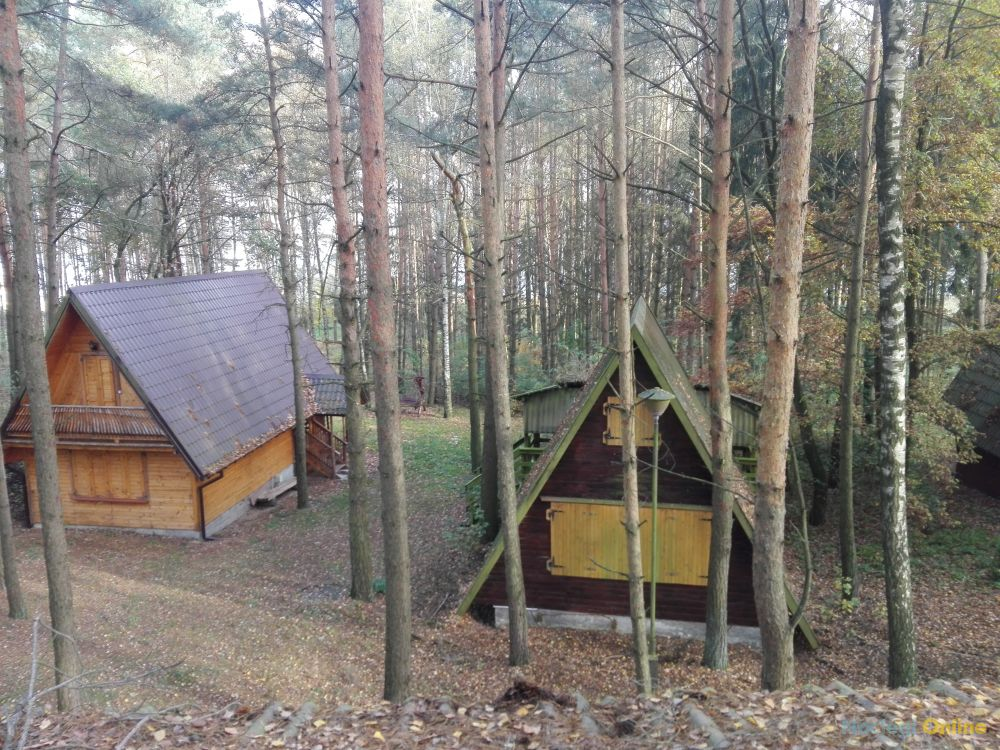 Domek na Mazurach nad jeziorem Hartowiec