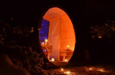 Domek z sauną na Mazurach