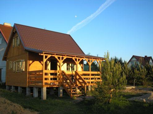 Drewniany domek letniskowy na Kaszubach Olpuch