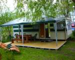 Domek holenderski nad jeziorem Niegocin