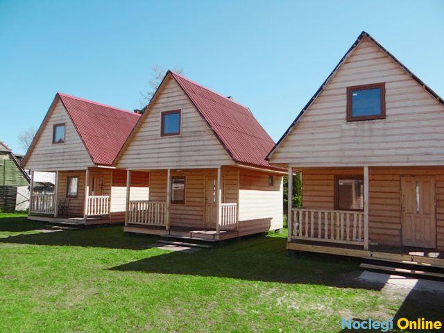 Domki drewniane 6-osobowe 70m od plaży