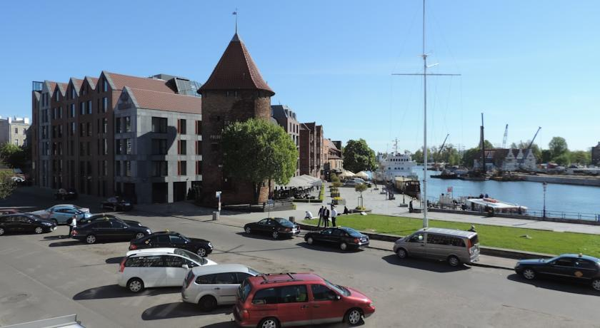 Apartament Targ Rybny z widokiem na Motławę