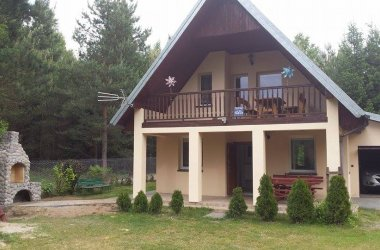 Domek z sauną nad jeziorem
