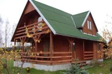 Kaszuby - Gowidlino - domek drewniany z kominkiem