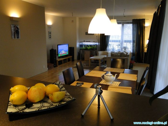 Modern and comfortable 3 bedrooms Apartment with big living room in Warsaw for rent during Euro 2012